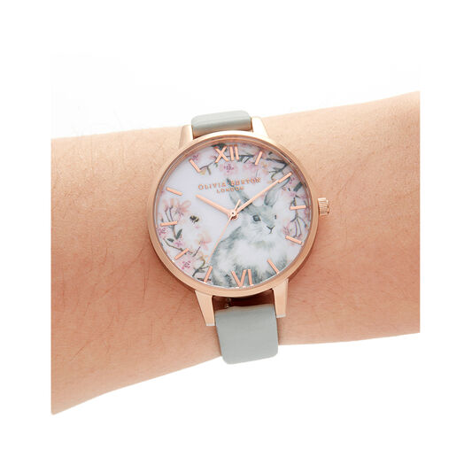Bunny Vegan Grey & Rose Gold Watch