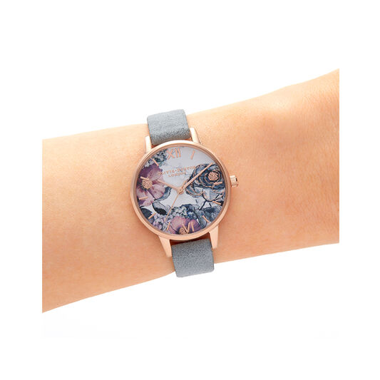 Eco Friendly Grey & Rose Gold Watch