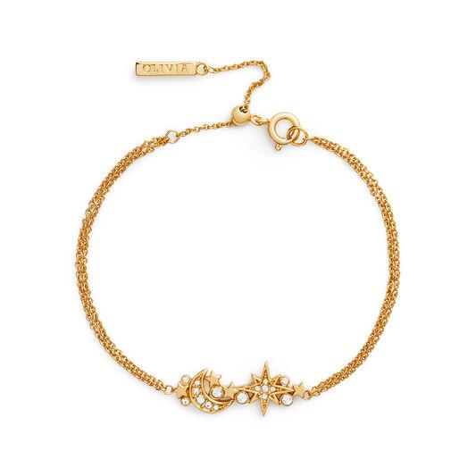Celestial Gold Cluster Chain Bracelet