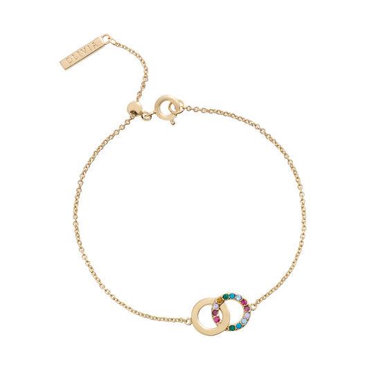 Bracelet Jewel Rainbow Interlink or