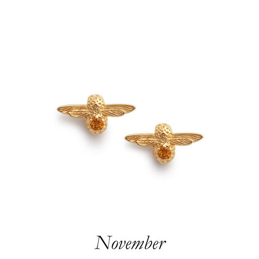 Celebration Gold & Citrine Bee Studs