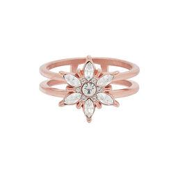 Snowflake Rose Gold Ring