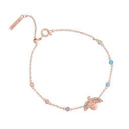 Rainbow Bee Rose Gold Chain Bracelet