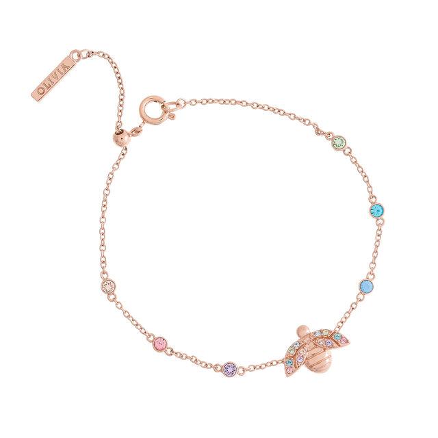 Bracelet chaîne Rainbow Bee or rose