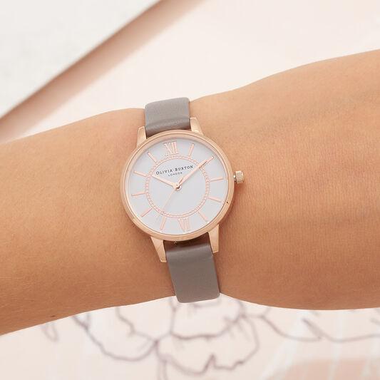 Wonderland Grey & Rose Gold Watch