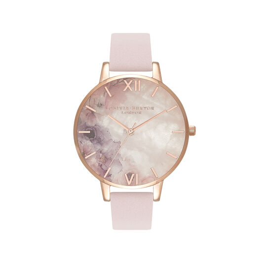 Semi Precious Blossom & Rose Gold Watch