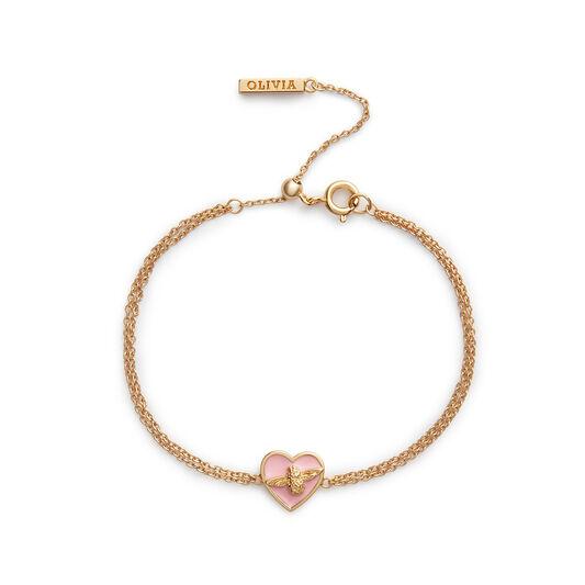 Love Bug Pink & Gold Bracelet