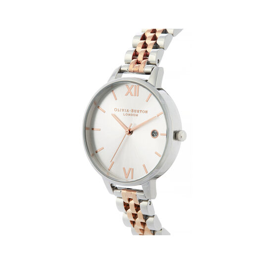 Sunray Silver & Rose Gold Bracelet Watch