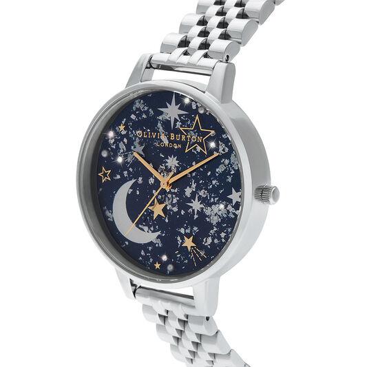 Celestial Navy Sunray, Gold & Silver Watch