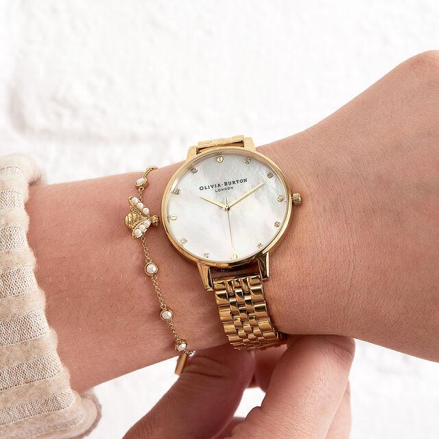 Pearl Bee Gold Bracelet