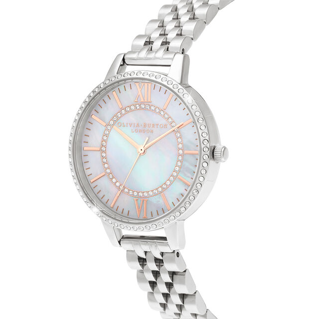 Wonderland Mother Of Pearl Demi Dial Silver Watch