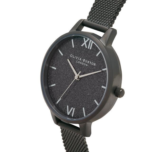 Gunmetal Glitter Demi Dial & Gunmetal Mesh Watch