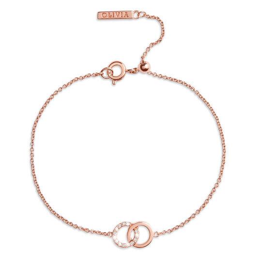 Bracelet chaîne Bejewelled Interlink or rose