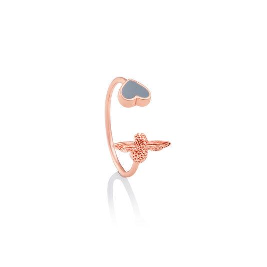 Love Bug Grey & Rose Gold Ring