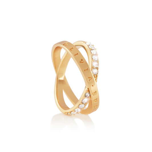 Bejewelled Interlink Ring Gold (M)