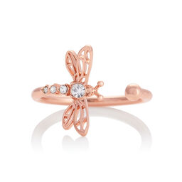 Dancing Dragonfly Ring Rose Gold
