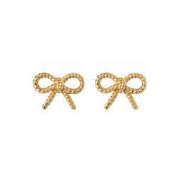 Vintage Bow Gold Earrings
