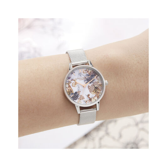 Marble Florals Midi Dial Watch