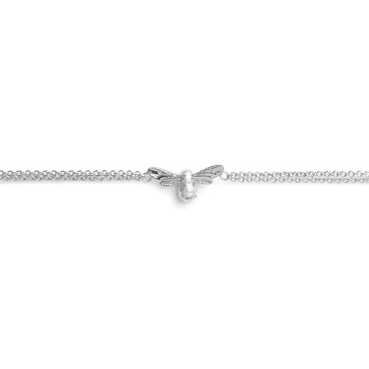 Lucky Bee Chain Bracelet Silver