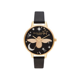 Ramadan 3D Bee, Black & Gold Watch