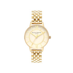 Wonderland Cream Dial & Gold Bracelet Watch