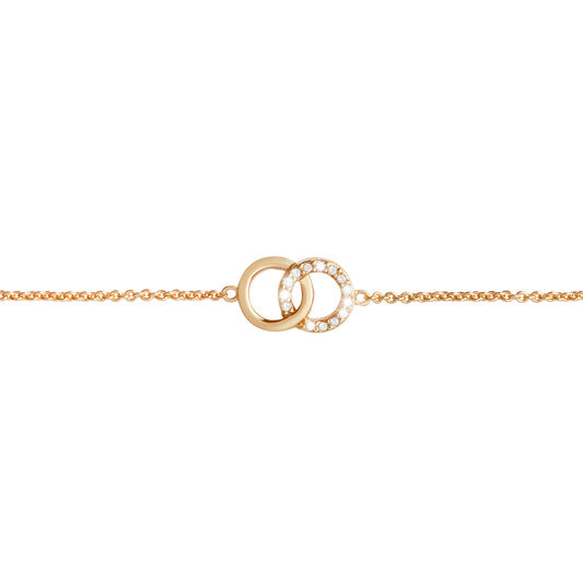 Bejewelled Interlink Chain Bracelet Gold