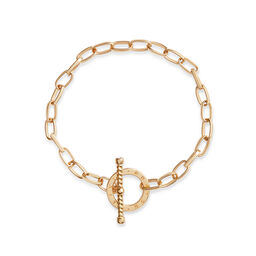 Bejewelled T-Bar Bracelet Gold