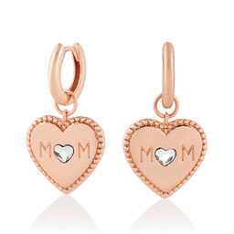 Mother's Day Mom Huggie Hoops Rose Gold