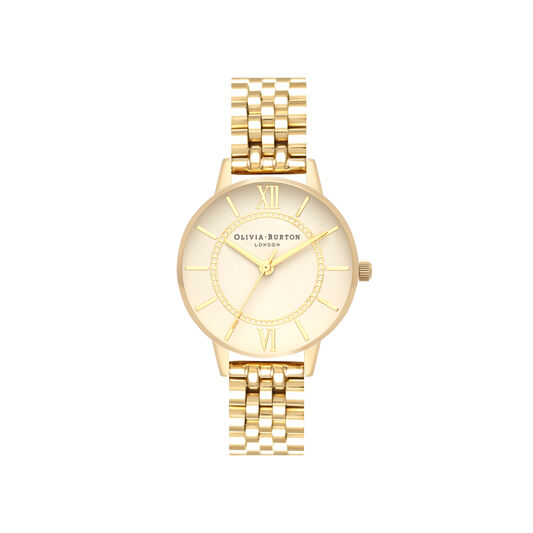 Wonderland Nude Dial & Gold Bracelet Watch