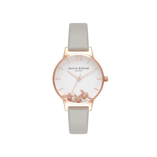 Busy Bees Grey & Rose Gold Watch