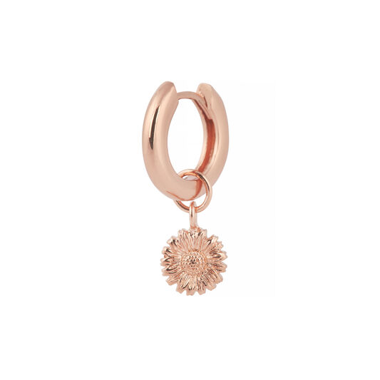 3D Daisy Huggie Charm Rose Gold