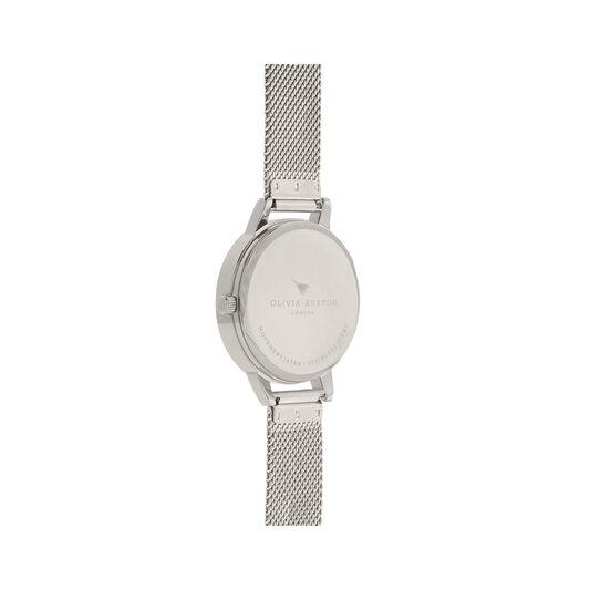 Sunray Silver Mesh Watch