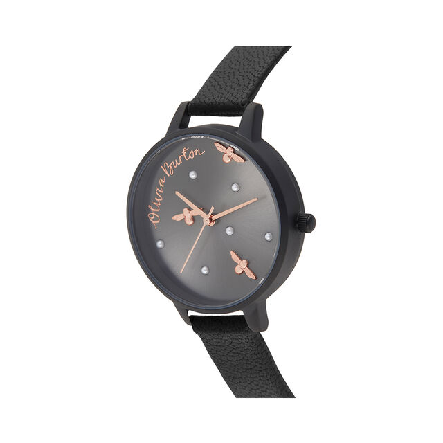 Pearly Queen Matte Black & Rose Gold