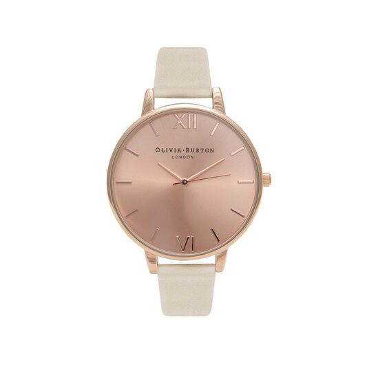 Vegan Friendly Nude & Rose Gold Watch