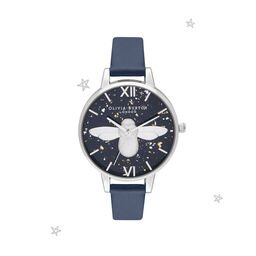 3D Bee Navy & Silver Watch