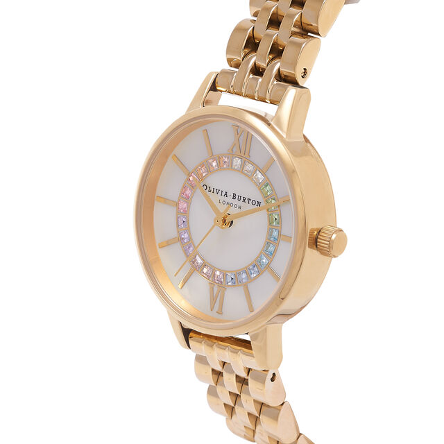 Rainbow Sparkle Wonderland Gold Bracelet Watch