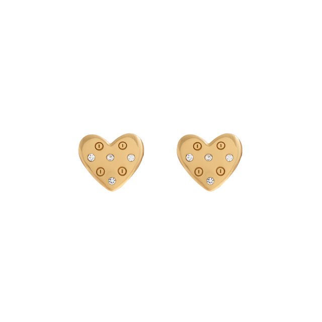 Classic Heart Gold Studs