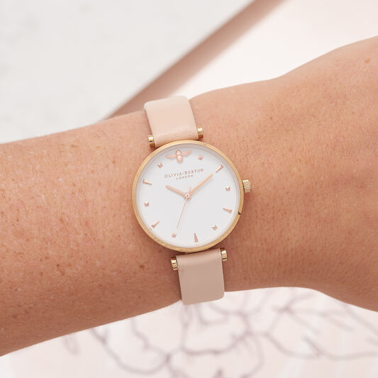 T-Bar Nude Peach & Rose Gold Watch