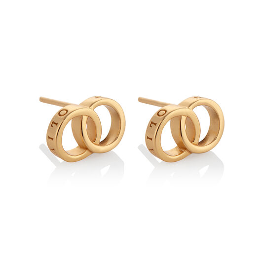 Classics Interlink Gold Earrings
