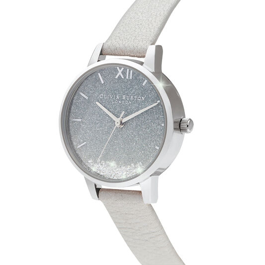 Wishing Waves Ombre Glitter Dial White Shimmer and Silver