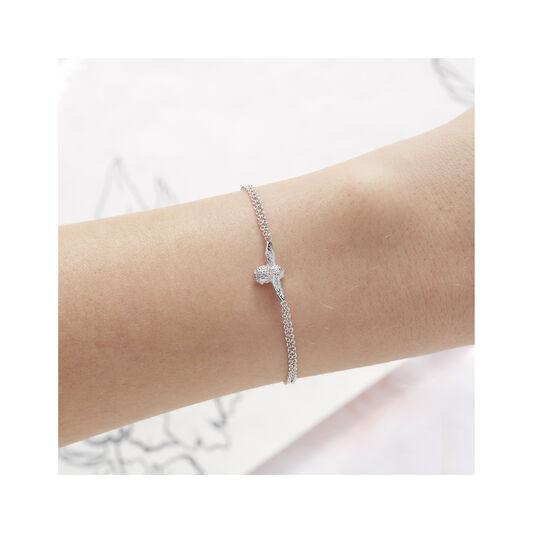 3D Bee Silver Bracelet