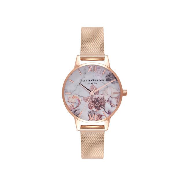 Montre à bracelet milanais or rose
