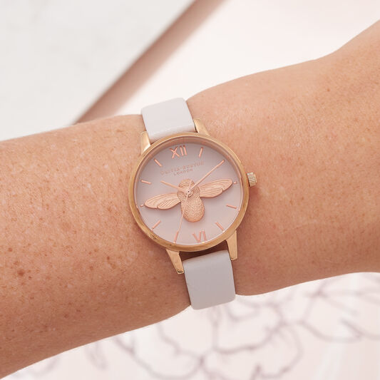 3D Bee Blush & Rose Gold Watch