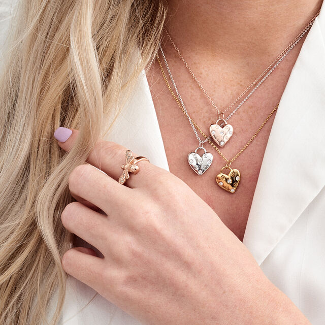 Classic Heart Rose Gold Necklace