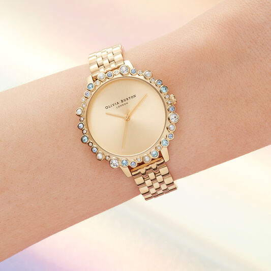 Limited Edition Bejewelled & Gold Bracelet Watch