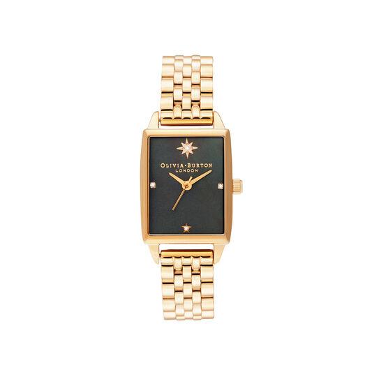 Celestial Black Mother Of Pearl Dial & Gold Bracelet