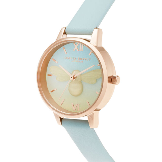 Lucky Bee Boiled Sweet Midi Turquoise & Rose Gold Watch
