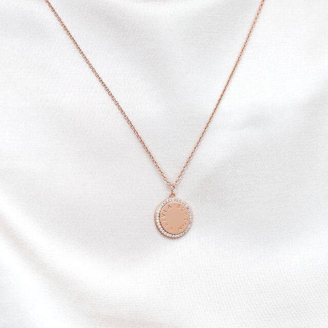Bejewelled Classics Disc Rose Gold Necklace
