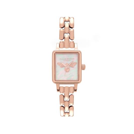 Montre Lucky Bee à cadran Mini et bracelet milanais or rose