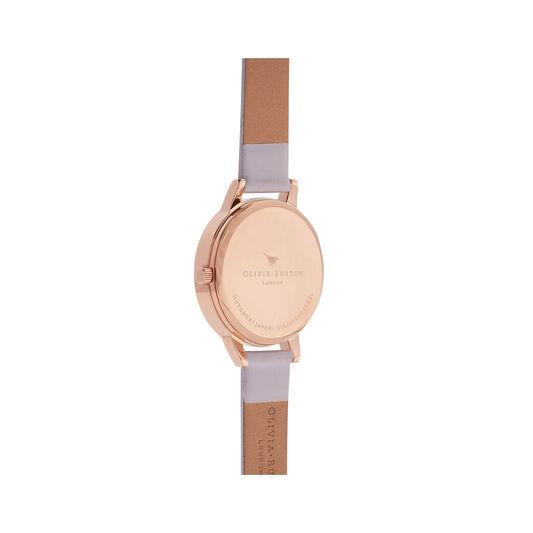 Midi Dial Grey Lilac & Rose Gold Watch